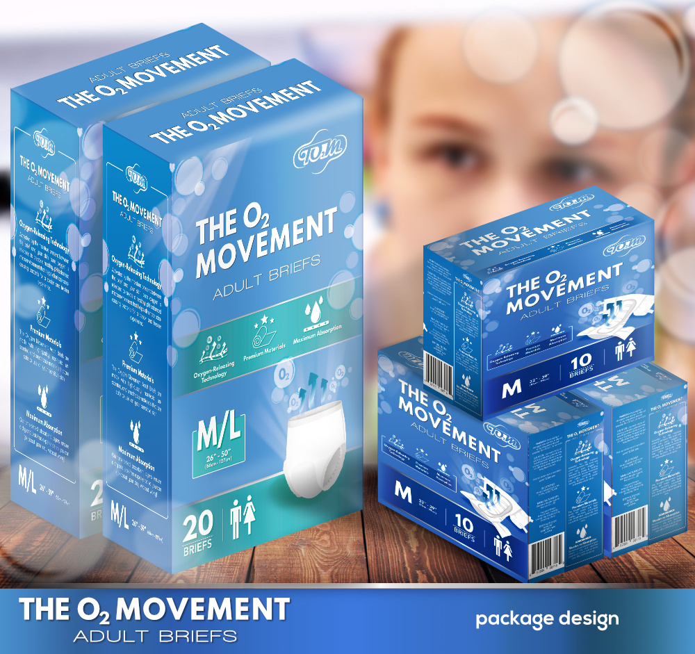 Mockup Box design for Adult Diapers