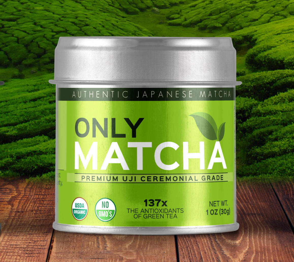 label mockup only matcha